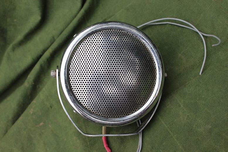 auto luidspreker jaren 50 1950's car music loudspeaker speaker  VW Volkswagen ?
