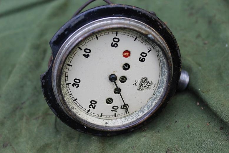 SMITHS PC 60 miles speedometer tacho mijlen teller haakse teller angled speedo 1930's