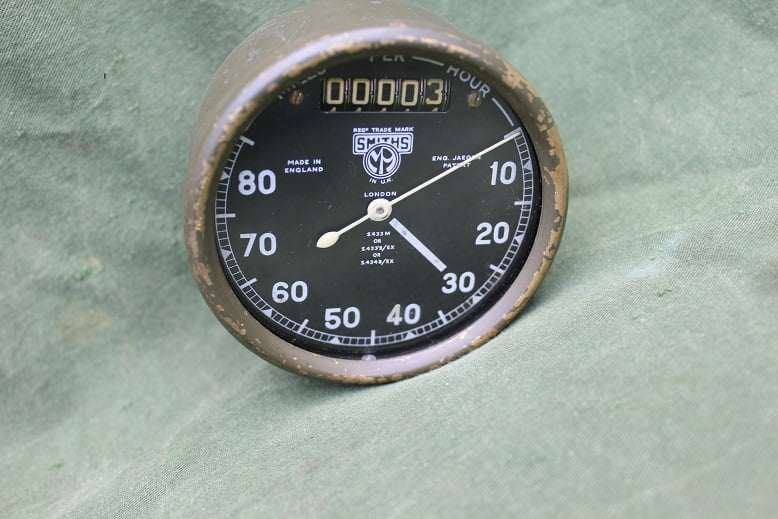 SMITHS S433 80 miles WD chronometric speedometer tacho WOII motorcycle HELD reserved