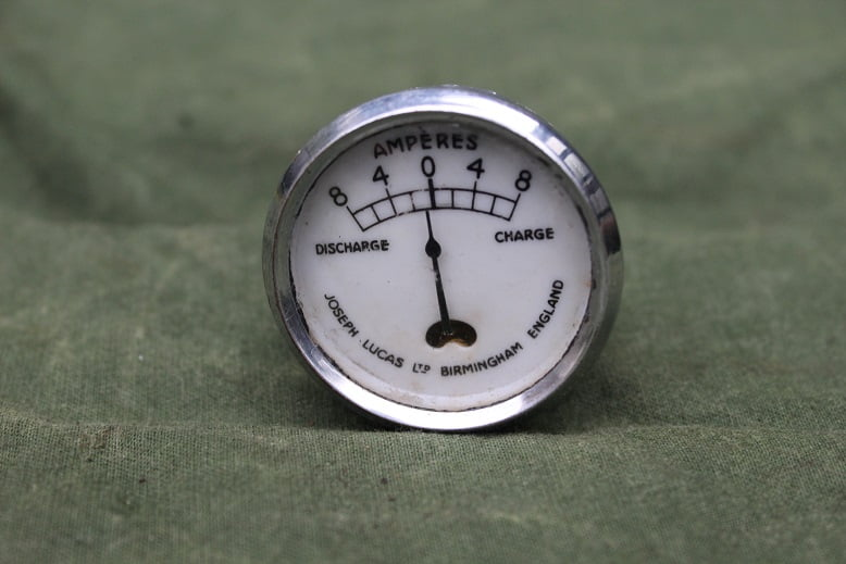 JOSEPH LUCAS CZ23 8-8 amperemeter ammeter dated 1936 CZ 23