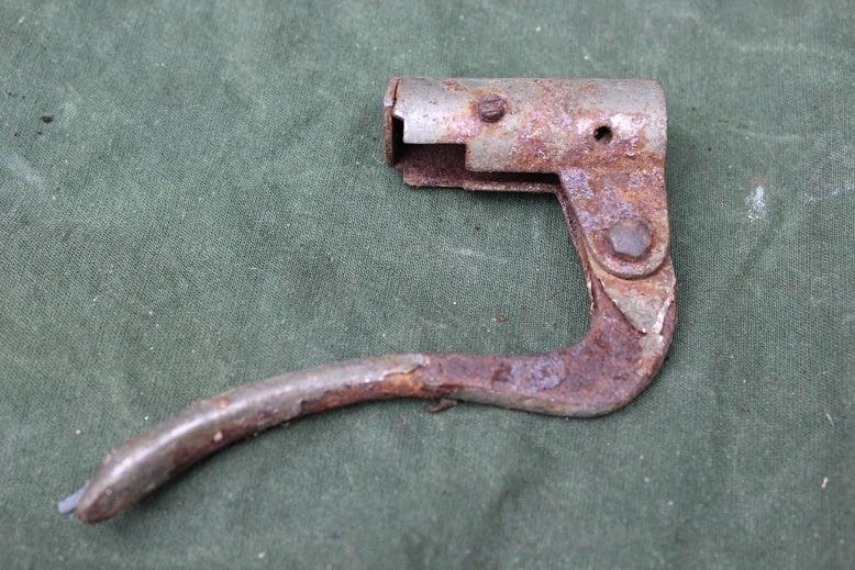 insteek motorfiets koppelings hendel 1915 / 1920 inverted clutch lever motorcycle