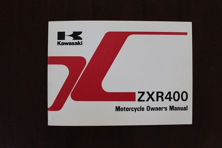 KAWASAKI ZXR400 1997 owner's manual ZX400-L8