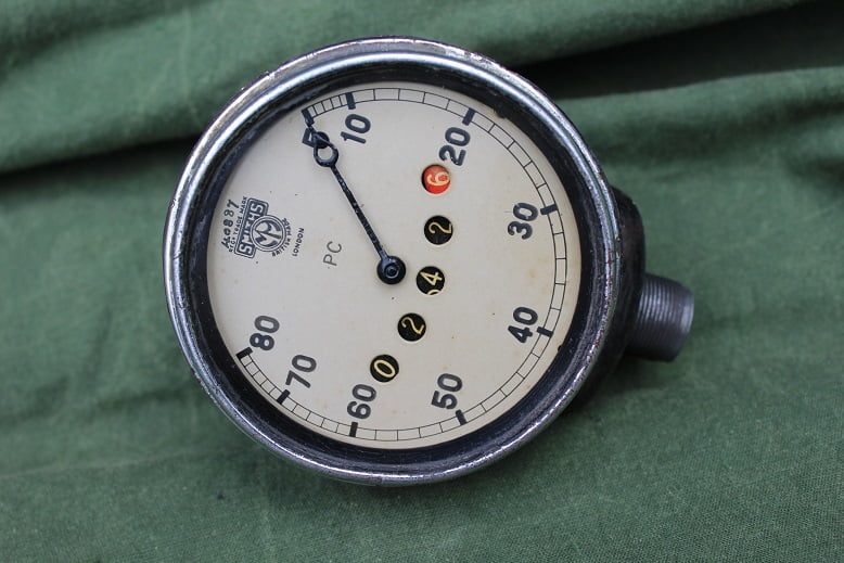 SMITHS PC 80 miles angled speedometer haakse teller 1930's HELD reserved