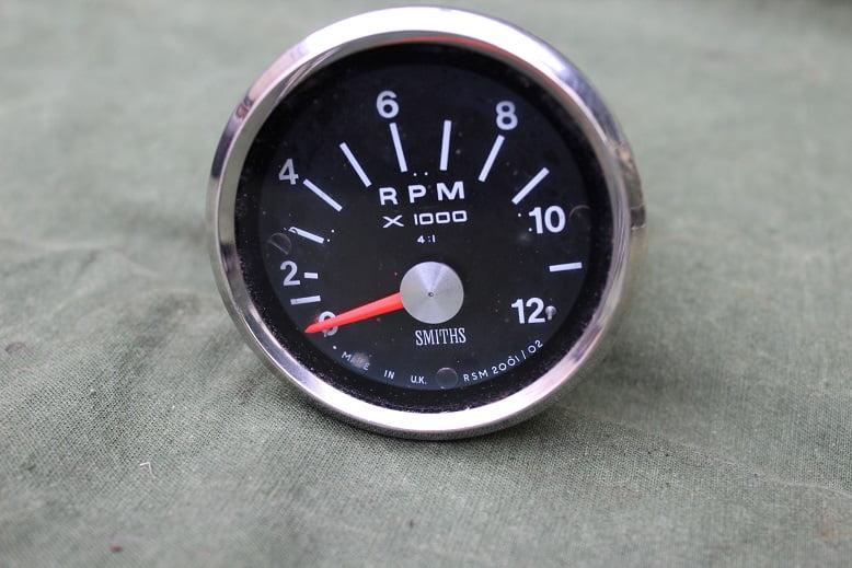SMITHS RSM  2001/02 12000 RPM 4:1 rev counter toerenteller