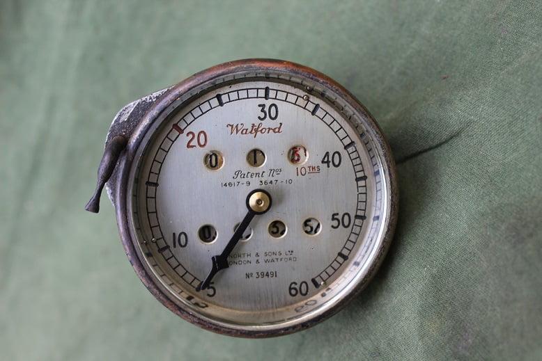 WATFORD  60 miles 1920's speedometer tacho mijlenteller met trip reset car / truck ?