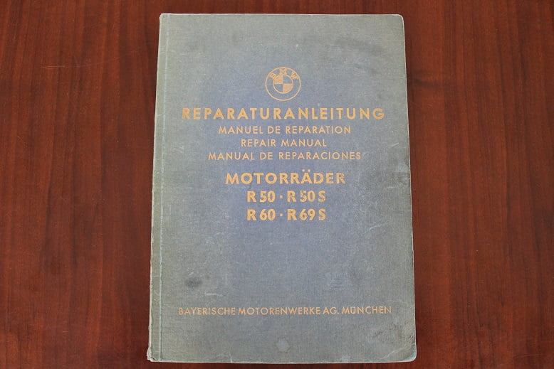 BMW R50 R50S R60 R69S 1962 reparaturanleitung repair manual