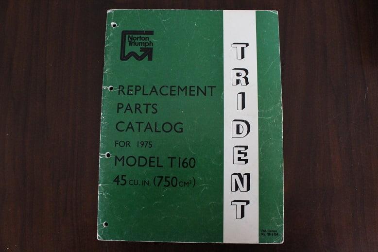 TRIUMPH 1975 750 cc TRIDENT T160 parts list