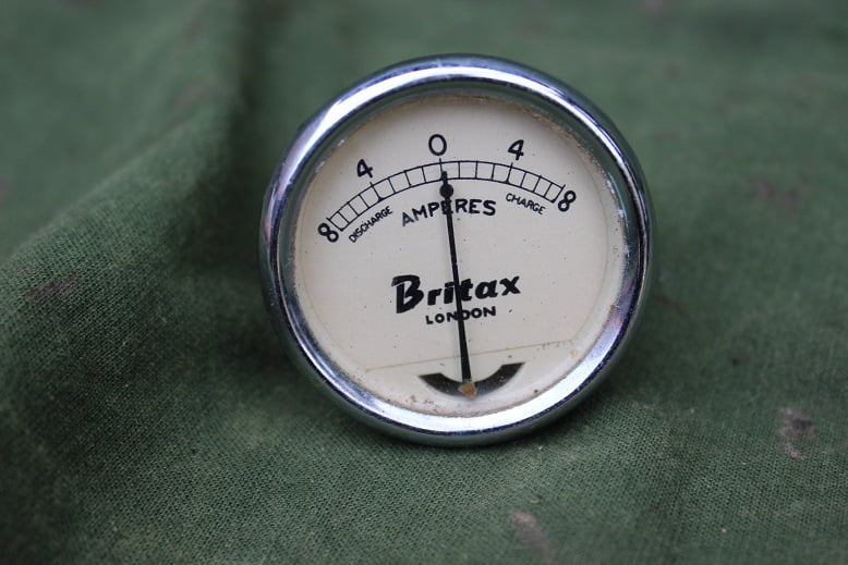 BRITAX 8-8 ampere meter ammeter 1950 / 1960 ??