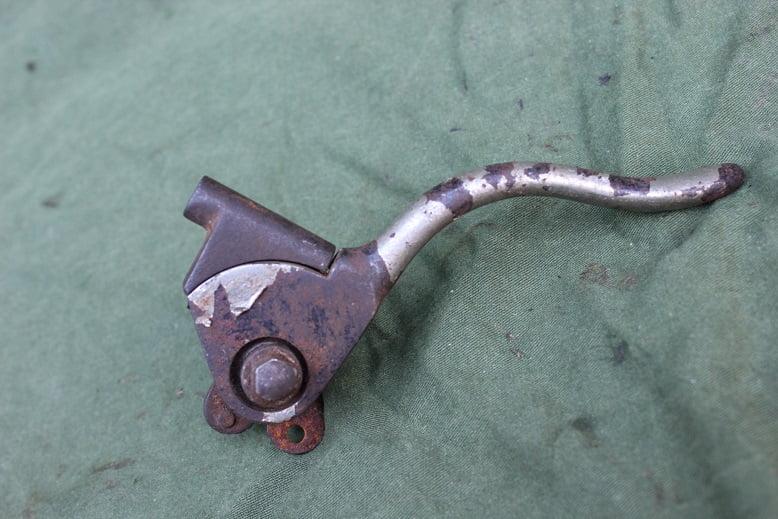 1920's / 1930's USA voorrem hendel frontbrake lever Harley Davidson ?? 25 mm HELD reserved