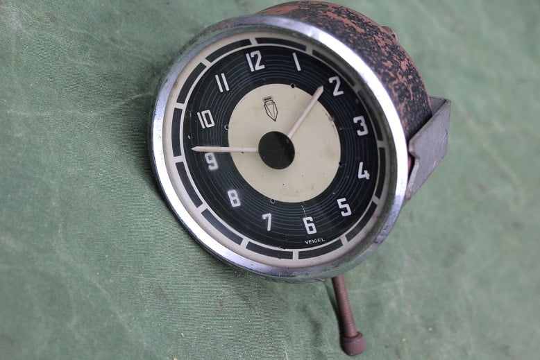DKW 6 volts auto klok car clock PKW Uhr 1950's