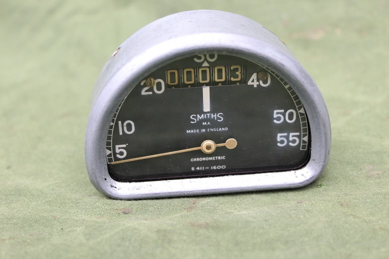 SMITHS S411 – 1600 55 MPH D type chronometric speedometer mijlenteller tacho