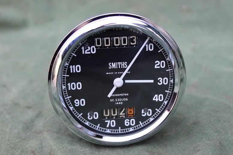 SMITHS SC5301/06 120 miles chronometric speedometer mijlen teller tacho