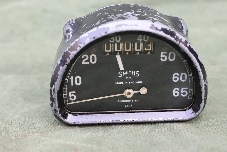 SMITHS S538 D type chronometric speedometer 65 MPH mijlen teller tacho