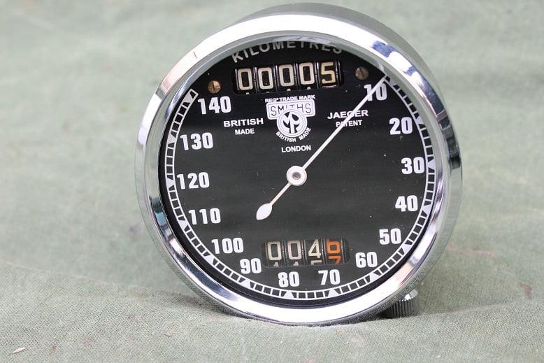 SMITHS 140 KM pre war pin drive chronometric speedometer  kilometerteller tacho