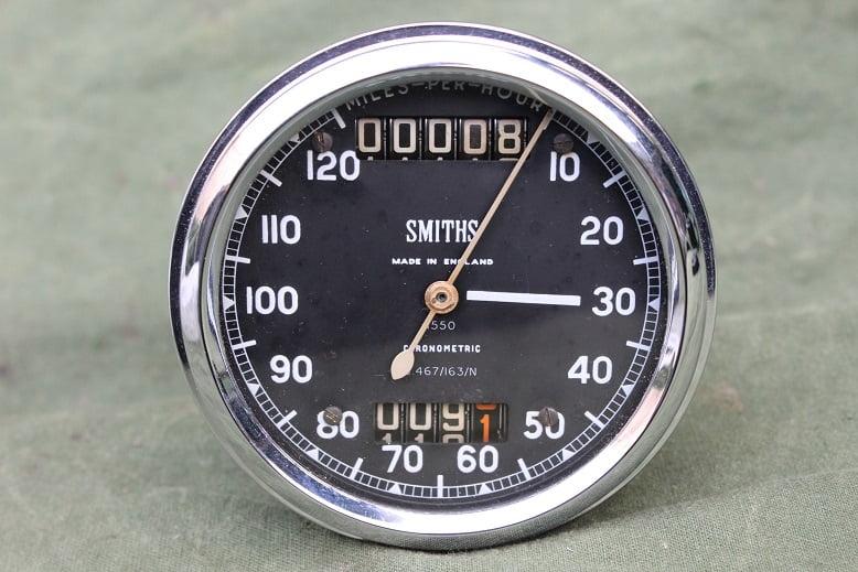 SMITHS S467/163/N 120 MPH chronometric speedometer mijlen teller tacho