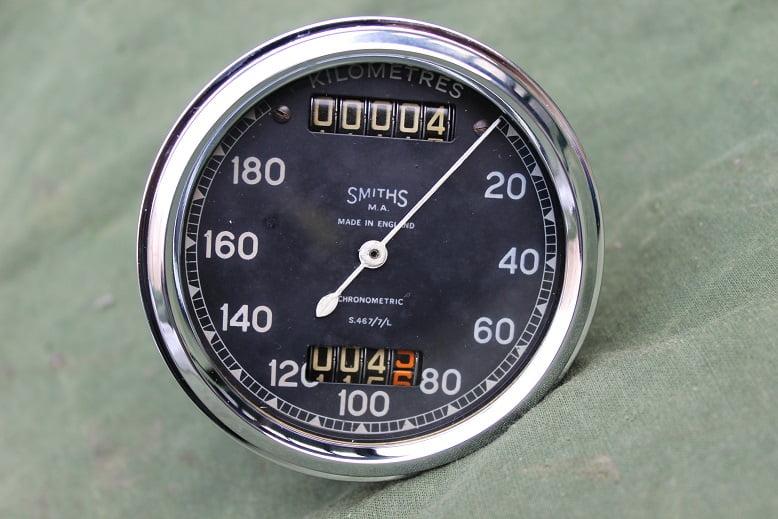 SMITHS  S467/7/L 180 KM chronometric speedometer tacho kilometer teller