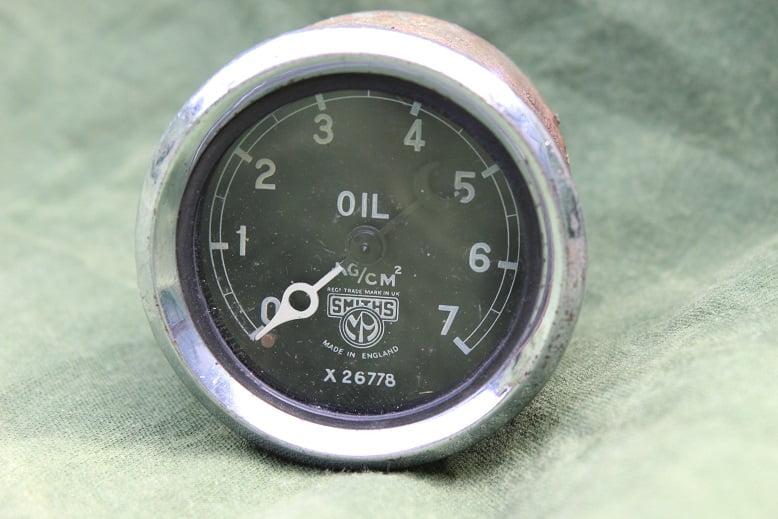 SMITHS  7 KG/CM2 1930's olie drukmeter oil pressure gauge oeldruckmesser