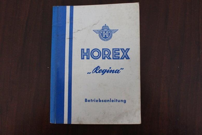 HOREX REGINA 2,3,4 1954 betriebsanleitung  instructie boekje