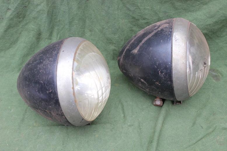 set CIBIE jaren 30 koplampen 1930's headlamps Agree A B TP349