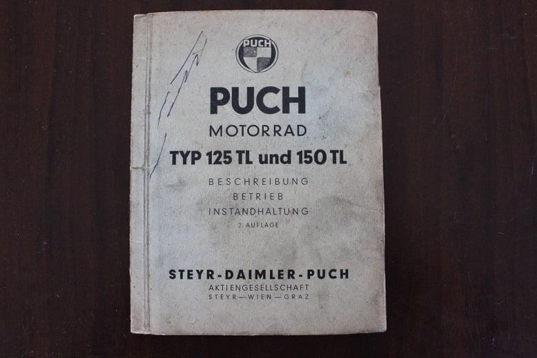 PUCH typ 125 TL 150TL beschreibung / instandhaltung instructie boekje
