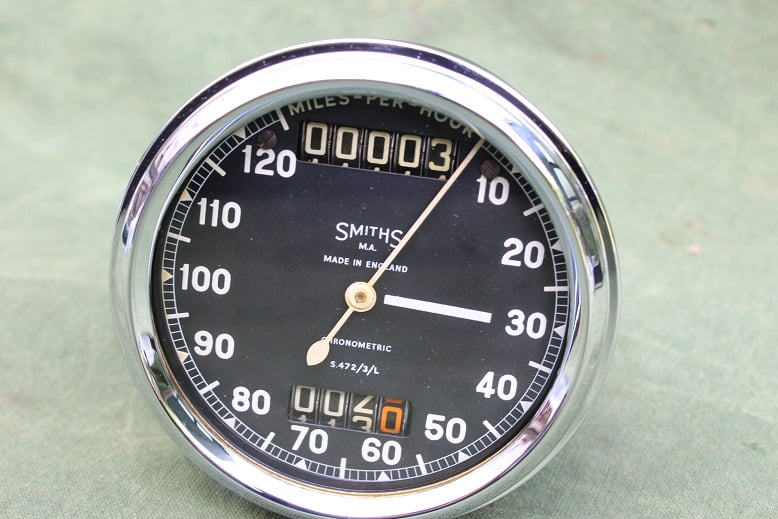 SMITHS S472/3/L 120 MPH chronometric mijlen teller speedometer tacho Sunbeam ?? S 472