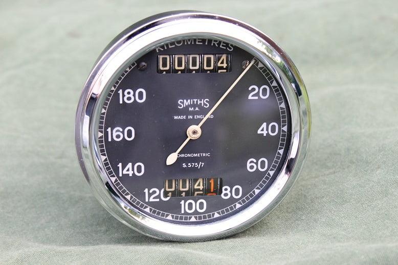 SMITHS S575/7 180 KMH chronometric speedometer kilometer teller tacho Sunbeam S7 S8