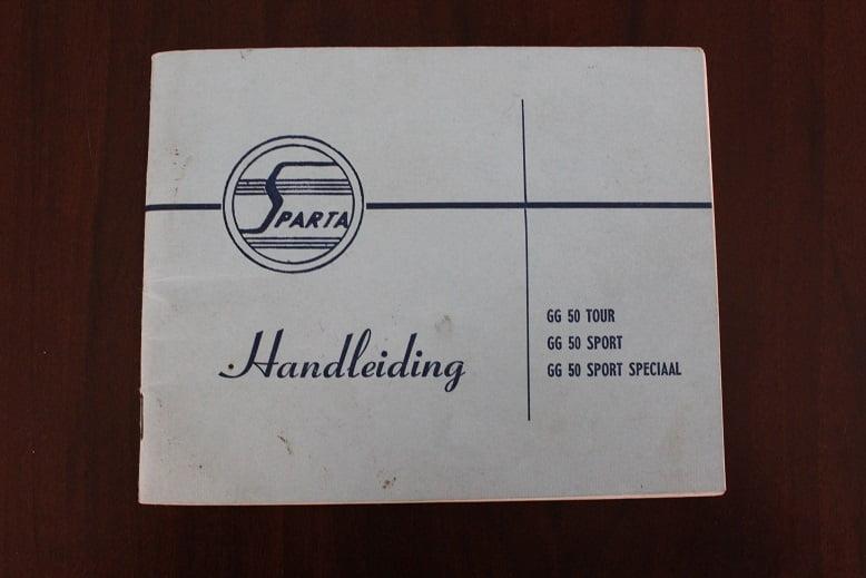 SPARTA GG50 Tour , Sport , Sport Speciaal 1963 handleiding / instructie boekje