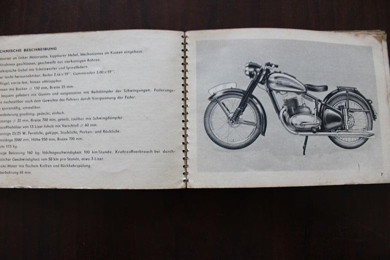 JAWA 250 cc bedienungs forschrift für das motorrad fahrer handbuch 1950's