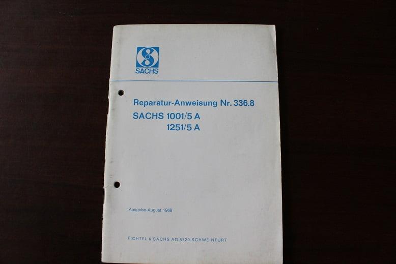 SACHS 1001/5A 1251/5A 1968 reparatur anweisung 100cc 125 cc 5 gang
