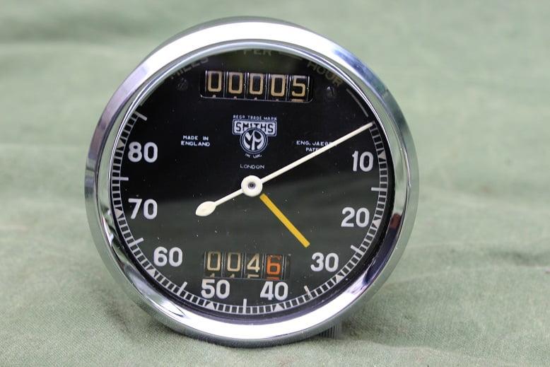 SMITHS 80 miles chronometric speedometer pin drive pre war mijlen teller tacho HELD reserved