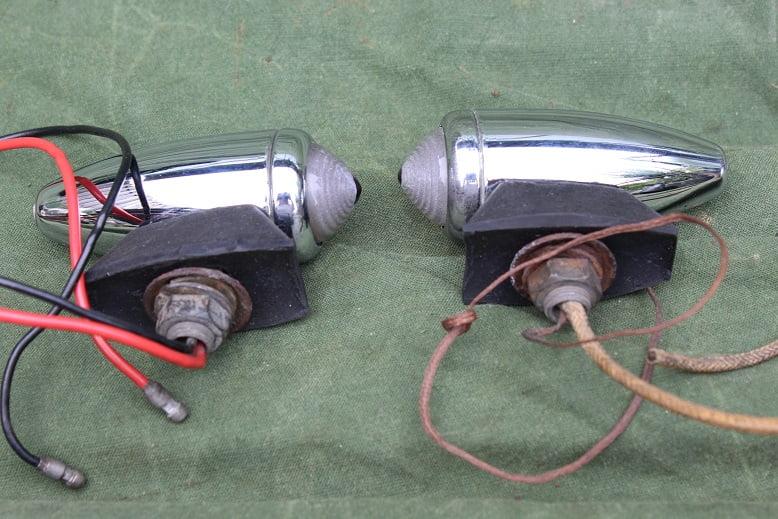 LUCAS 516 pilot lights 1950's AJS Matchless Enfield SOLD verkocht