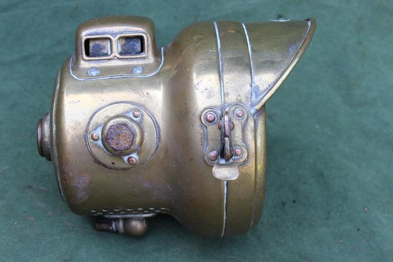 POWELL & HAMMER 1920's motorfiets carbidlamp acetylene headlamp karbid scheinwerfer