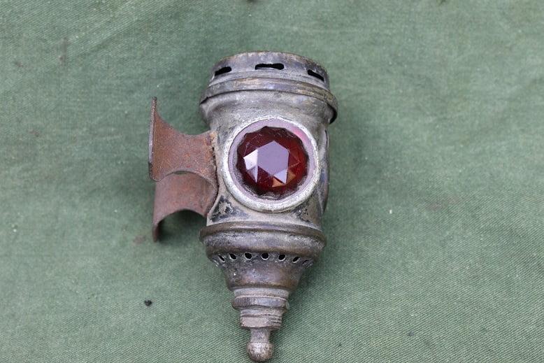 POWELL & HAMMER Starlight carbid achterlicht  acetylene rearlamp karbid rucklicht