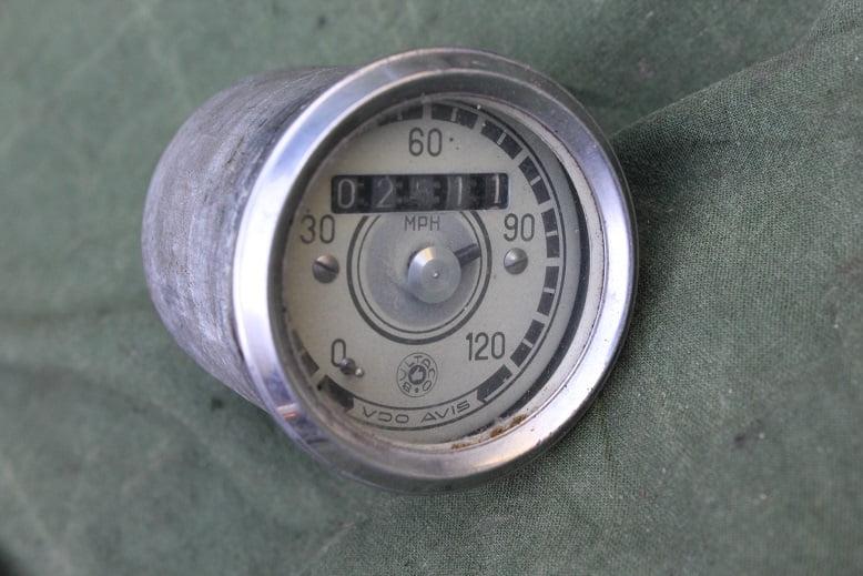 BULTACO VDO AVIS 120 Mph speedometer mijlen teller tacho