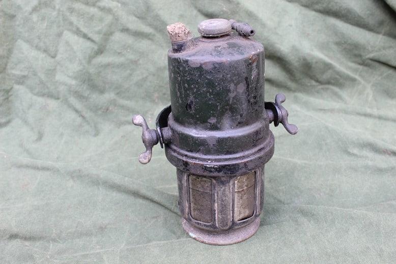 JOSEPH LUCAS 1920's carbid pot acetylene generator karbid behalter
