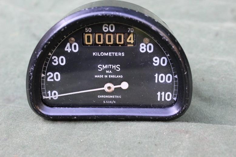 SMITHS S 538 K 110 KM D type chronometric kilometer teller speedometer  tacho