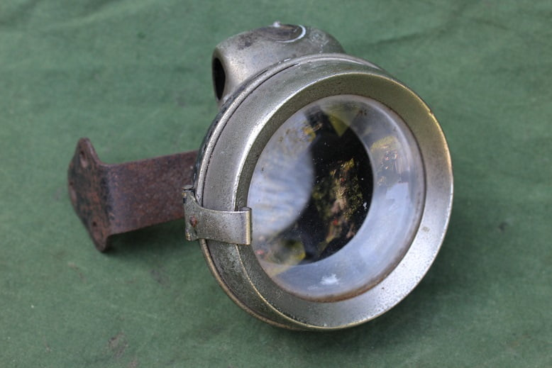 P&H POWELL & HAMMER carbid zijspan lamp acetylene side car lamp beiwagen