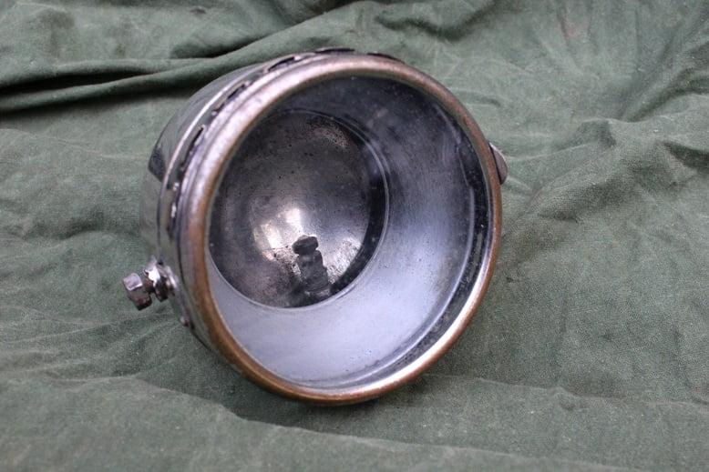 lichte motorfiets carbidlampje jaren 20 light motorcycle acetylene headlamp