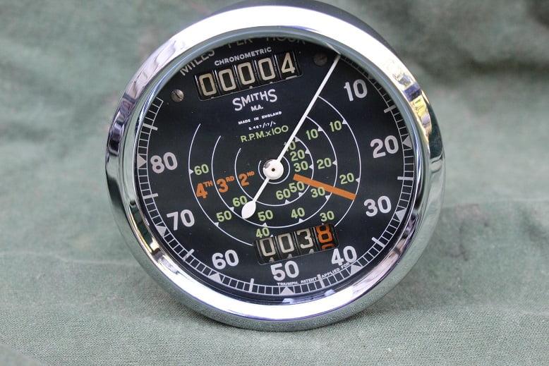 SMITHS S467/17/L 80 miles chronometric speedometer mijlen teller tacho Royal Enfield ??