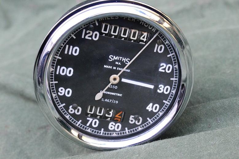 SMITHS S467/59 120 miles chrononetric speedometer tacho mijlen teller