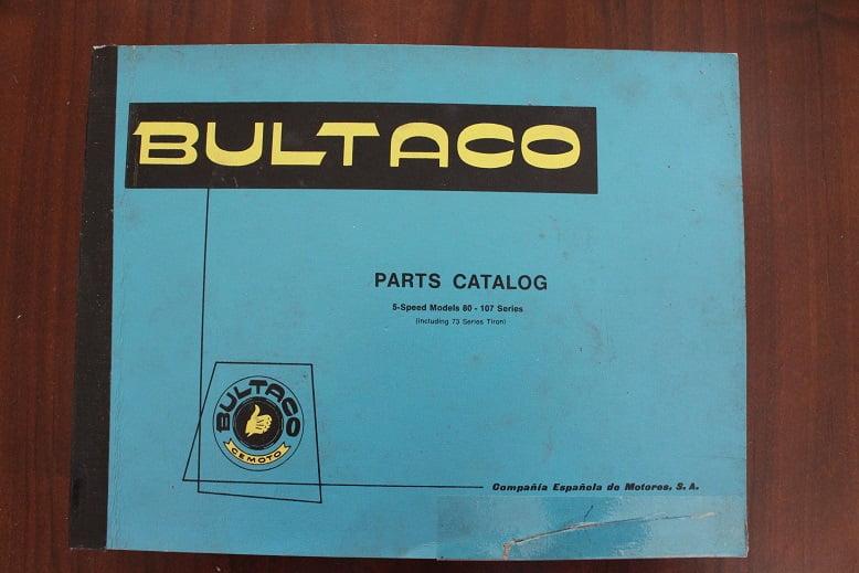 BULTACO 5 speed models 80 -107 1973 parts catalog Pursang Sherpa  Alpina