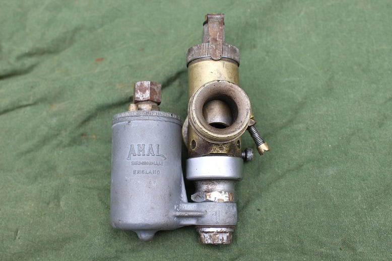 AMAL 4B/4A RH bronzen carburateur vergaser carburettor Douglas ???