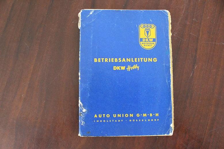 DKW HOBBY 1955 betriebsanleitung owner's manual