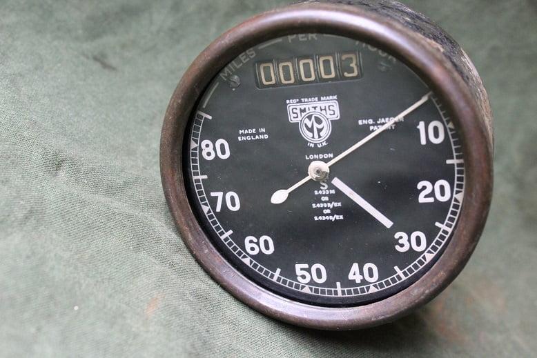 SMITHS S433 80 miles chronometric speedometer mijlenteller tacho WD WOII