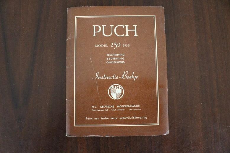 PUCH 250 SGS instructie boekje