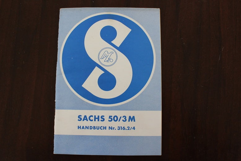 SACHS 50/3 M handbuch 1961 ?? instructie boekje