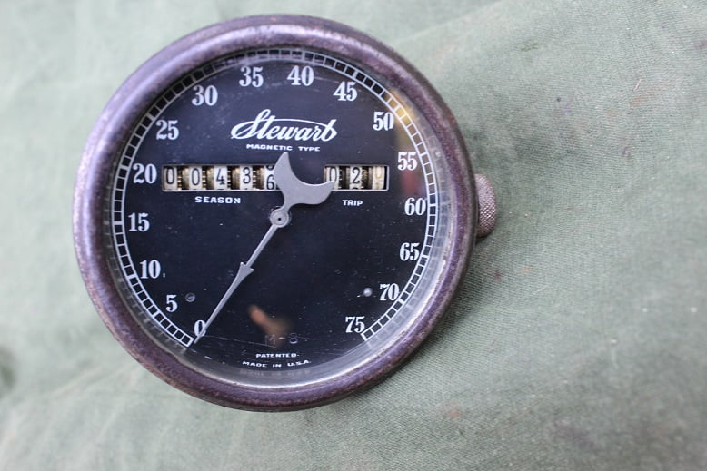 STEWART USA  75 miles 1920's speedometer tacho mijlenteller M8