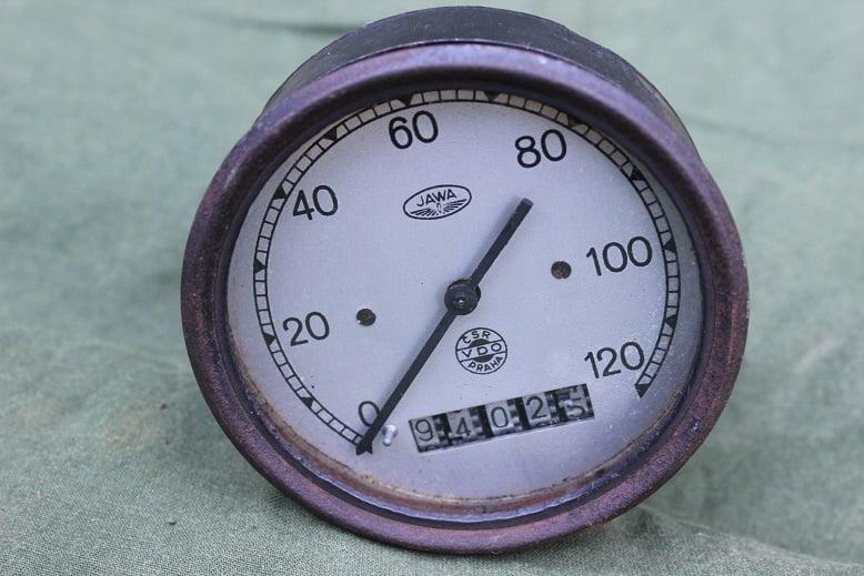 JAWA VDO CSR PRAHA 1947 120 KM kilometer teller tacho speedometer