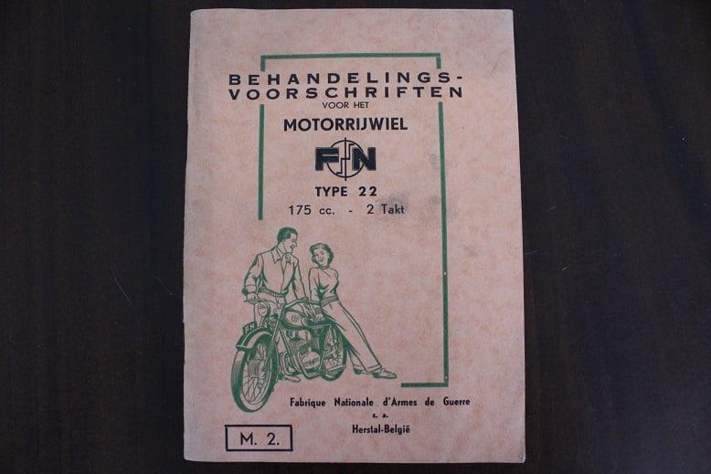 F.N. 175 cc tweetakt type 22 instructie boekje jaren 50