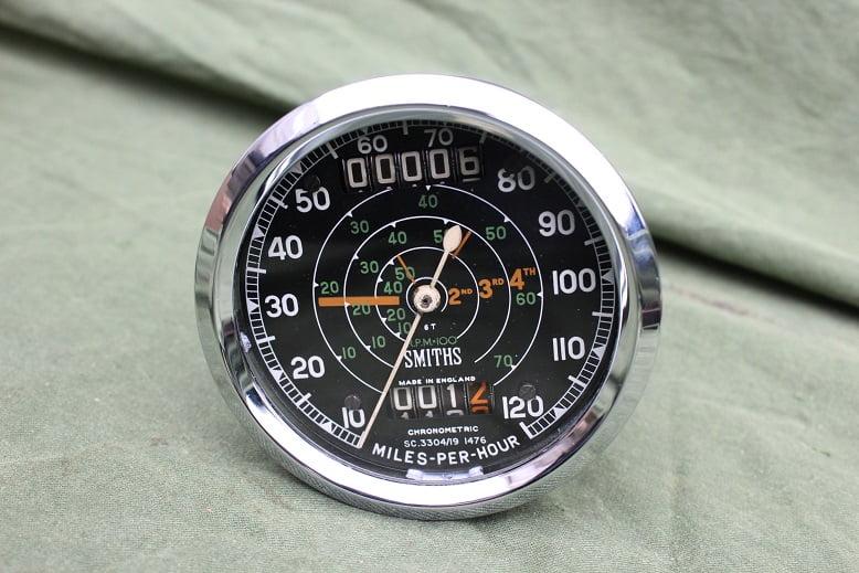 SMITHS SC3304/19 1476 120 MPH chronometric speedometer mijlen teller tacho